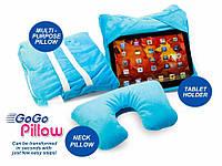 Дорожная подушка Go Go Pillow 3 в 1, подставка и чехол для планшета  , Скидки