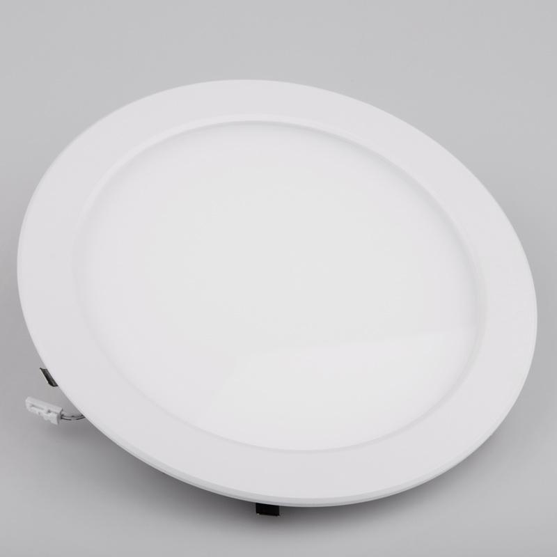 LED светильник LEDMAX встраиваемый круг 12W SMD2835 4200К пластик