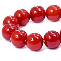 Бусины из Смолы, Буддийские, Цвет: Красный, Размер: 10мм, Отверстие 1мм, около 35шт/нить, (УТ100006000)