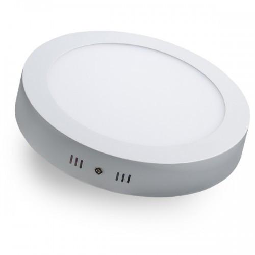LED светильник LEDMAX круг накладной 18W SMD2835 6500К пластик