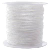 Шнур Вощеный Полиэстер, подходит для плетения браслетов, Цвет: Белый, Размер: Толщина 1мм, около 10м/катушка, (УТ0026610)