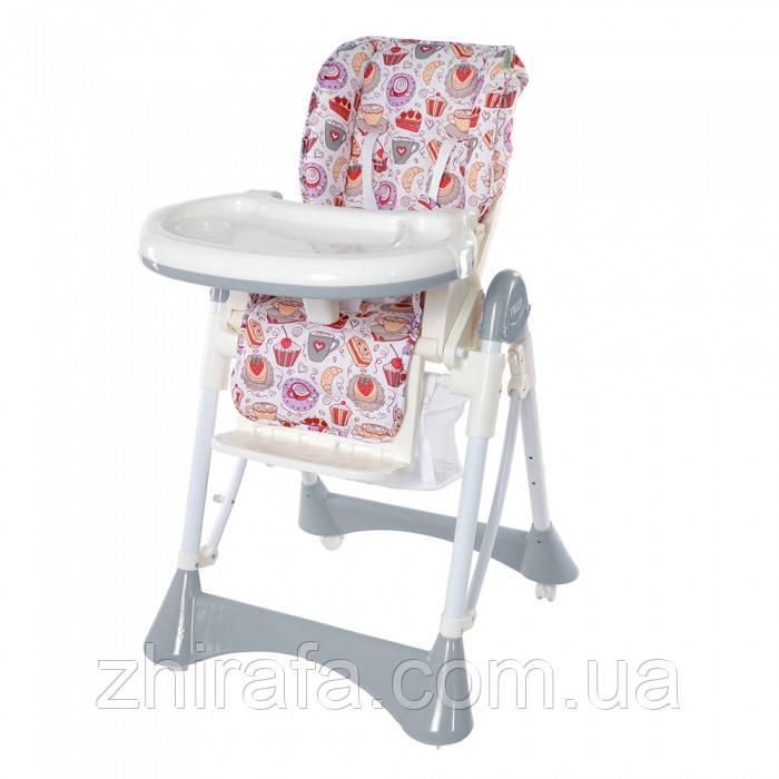 """Детский стульчик для кормления TILLY Bistro  Grey - Интернет-магазин детских товаров """"Жирафа"""" в Одессе"""