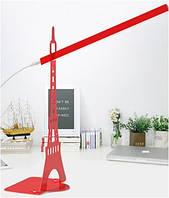 """Настольная лампа Sirius """"Эйфелевая башня"""" 2.4W LED SMD красная"""