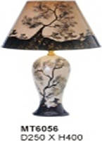 Настольная лампа Sirius МТ6056 ткань+керамика