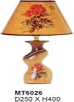 Настольная лампа Sirius МТ6026 ткань+керамика