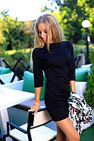Женский темное платье с кардиганом