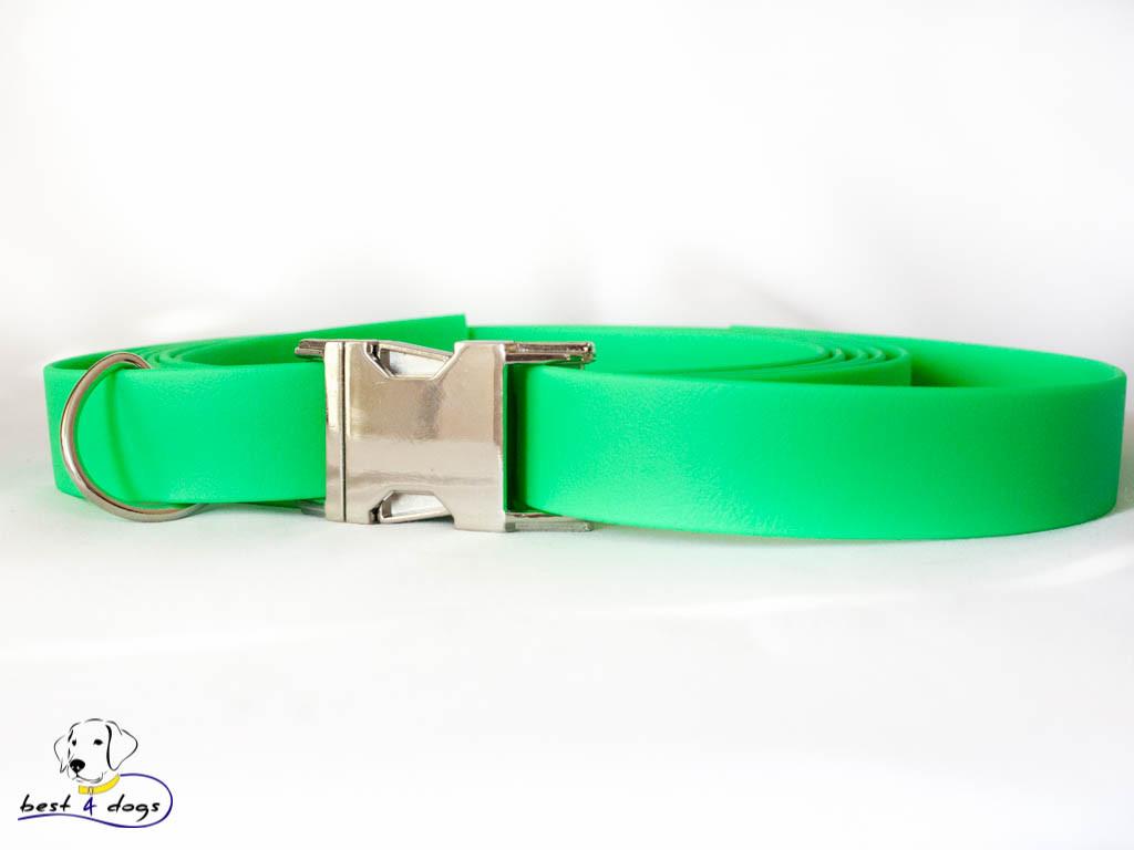 Ошейник из биотана, Зеленый Неон, 25мм(метал.фастекс)