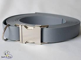 Ошейник из биотана, Серый, 25мм(метал.фастекс)