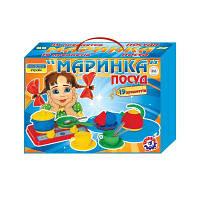Игрушечная посуда Маринка в картонной коробке (5шт), 1554, Технок