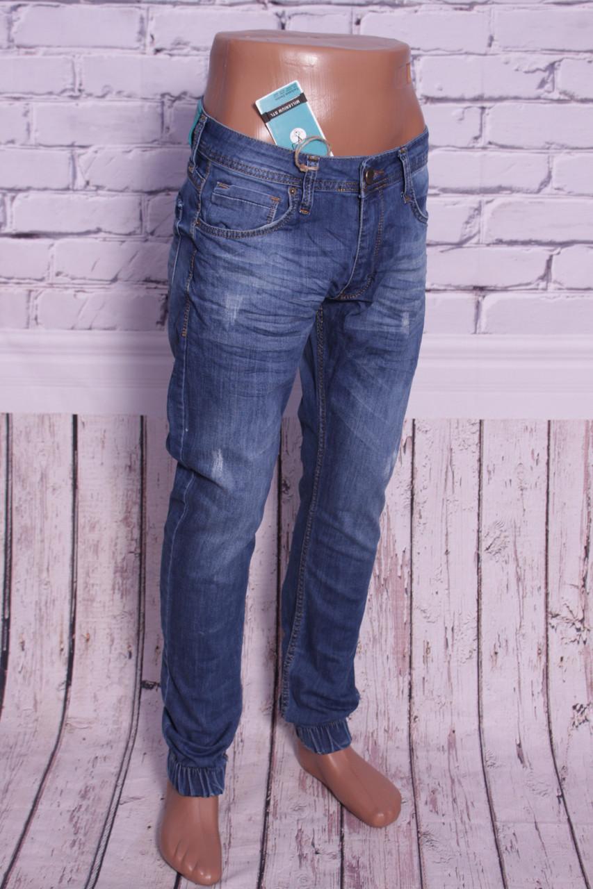 4269c1a71dad МОДНЫЕ джинсы мужские с манжетами на резинке Mario 29-36 размеры