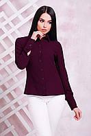 Женская блуза из тонкого и легкого креп-шифона, баклажановый