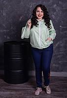 Модная  женская куртка ветровка батал 48 -74 размер