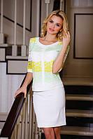 Костюм юбка+кофта, блуза из 3D гипюра, юбка из облегченной костюмной ткани