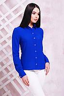 Женская блуза из тонкого и легкого креп-шифона, электрик