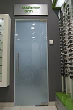 Одинарная распашная стеклянная дверь