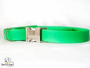 Ошейник из биотана, Зеленый, 19мм(метал.фастекс)