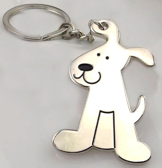 Брелок у вигляді сидячої собаки метал SKU0000686