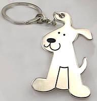 Брелок в виде сидячей собаки металл SKU0000686, фото 1