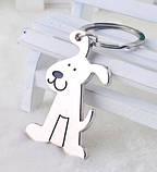 Брелок у вигляді сидячої собаки метал SKU0000686, фото 7
