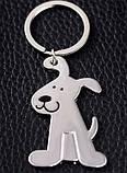 Брелок у вигляді сидячої собаки метал SKU0000686, фото 9