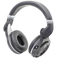 Комфортная Bluetooth гарнитура Bluedio T2 черная с микрофоном стерео беспроводная складная USB 3.5 jack
