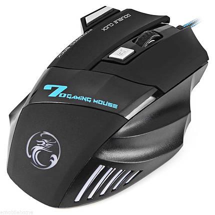 Игровая мышь ESTONE X7 USB черная проводная чувствительный подсветка сенсор для dota lol cs 2400 dpi 5 кнопок, фото 2