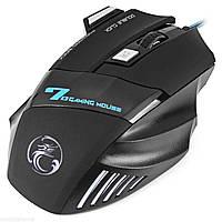 Игровая мышь ESTONE X7 USB черная проводная чувствительный подсветка сенсор для dota lol cs 2400 dpi 5 кнопок