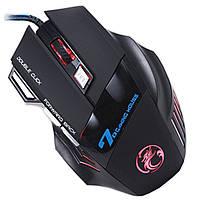 ✓Игровая мышь IMICE X7 USB черная проводная LED подсветка 2400 dpi 7 кнопок для геймеров компьютерная