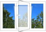 """Металлопластиковое окно энергосберегающее """"Wintera"""" белый Prime plast 70, Axor K-3 4і-8-4-12-4і, 1200x1800"""