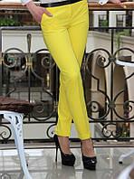 Брюки женские летние желтый цвет