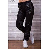 Теплые женские брюки из плащевки и трикотажа трехнитки, размеры 42-56