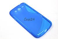 Чехол накладка для Samsung Galaxy Mega 5.8 I9150 синий, фото 1