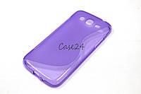 Чехол накладка для Samsung Galaxy Mega 5.8 I9150 фиолетовый, фото 1
