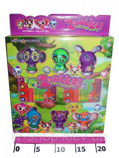 Бакуганы для девочек Zoobles 6 шт.(Зублс)
