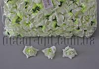 Голова тканевой розы салатовая 5см/100шт KWW017
