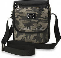 Серая камуфляжная мужская сумка через плечо Vinamra