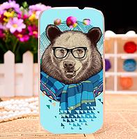 Качественный яркий чехол с мишкой на корпус для Samsung Galaxy S3 Duos i9300