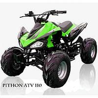 Квадроцикл бензиновый Pithon ATV 110 с 4-х тактным двигателем зеленый