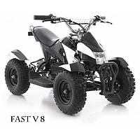 Квадроцикл электрический детский Fast V 8 black-white