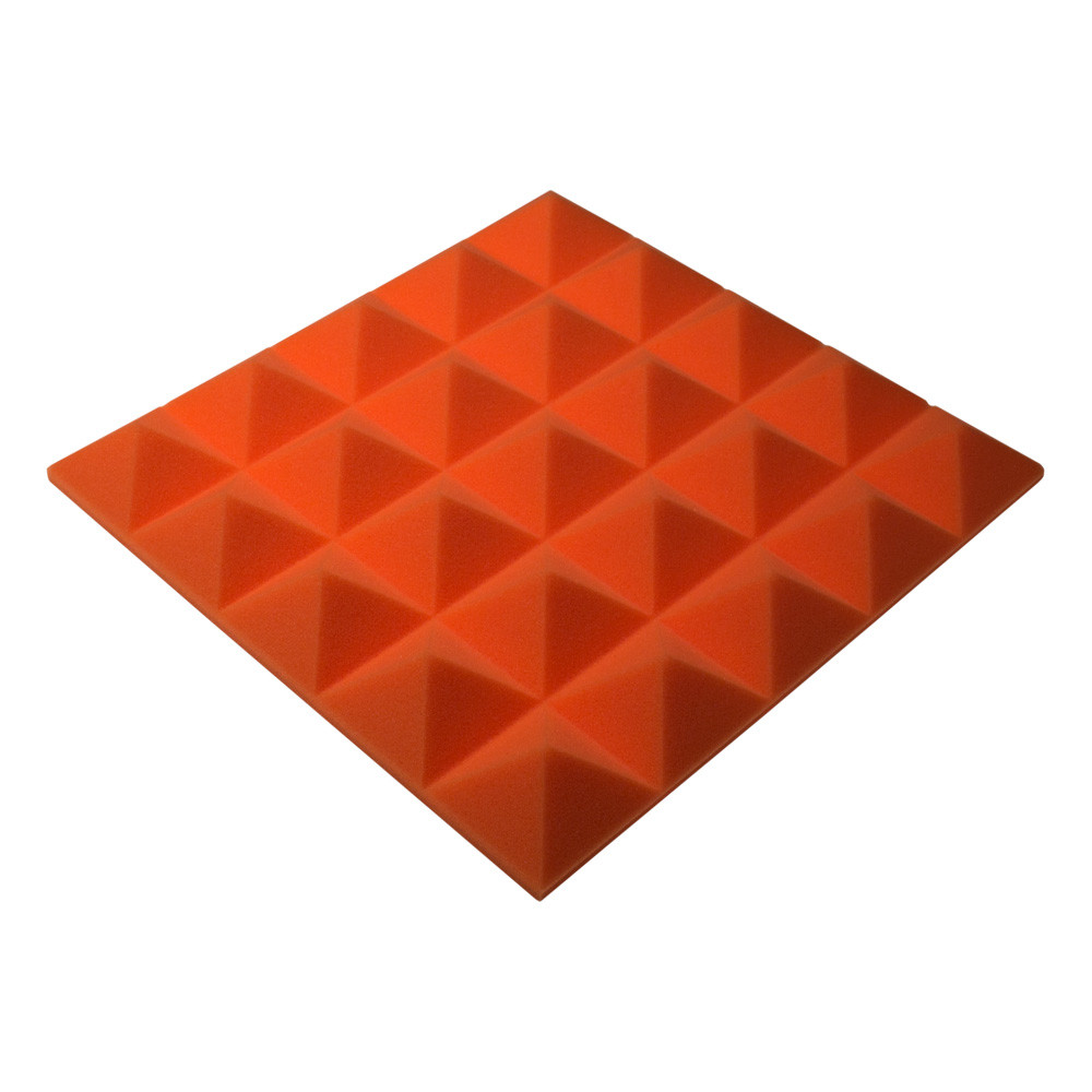 Акустичний поролон Ecosound піраміда Pyramid Gain Orange 45х45см, 50 мм.