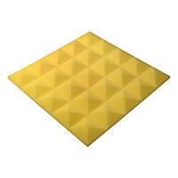 Акустичний поролон Ecosound піраміда Pyramid Gain Yellow 45х45см, 30 мм.