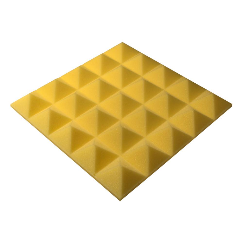 Акустичний поролон Ecosound піраміда Pyramid Gain Yellow 45х45см, 50 мм.
