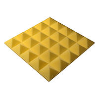 Акустическая панель пирамида Pyramid Gain Yellow 50 мм.