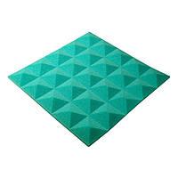 Акустичний поролон Ecosound піраміда Pyramid Gain Green 45х45см, 30 мм.