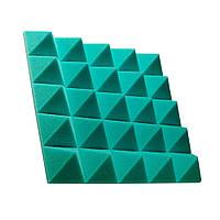 Акустическая панель Ecosound пирамида Pyramid Gain Green 70 мм.