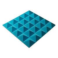 Акустическая панель пирамида Pyramid Gain Blue 50 мм.