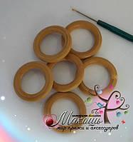 Деревяные кольца для обвязки крючком