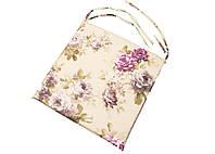 Подушка на стул с водоотталкивающей пропиткой на молнии 40*40 см Aquarel Lilac