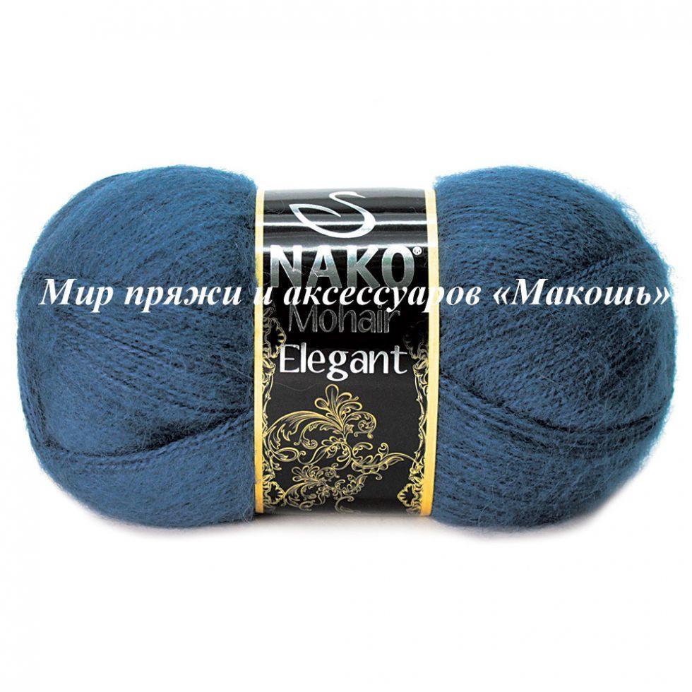Пряжа Mohair Delicate Мохер деликат Нако, № 6146, т.синий