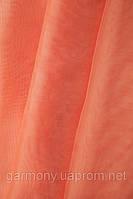 Шифон однотонный Персиковый